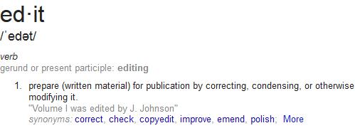 edit definition