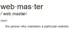 webmaster definition